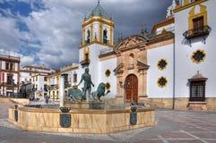Plaza Del Socorro, Ronda, Andalusien, Spanien Lizenzfreie Stockbilder