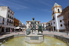 Plaza del Socorro in Ronda, Spain Stock Photos