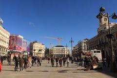 Plaza del Sol Μαδρίτη, Ισπανία Στοκ Εικόνες