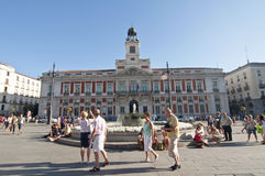 Plaza del Sol en Madrid, España Imágenes de archivo libres de regalías