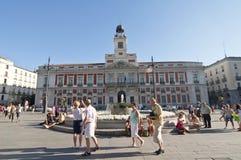 Plaza Del Sol in Madrid, Spanien Lizenzfreie Stockbilder