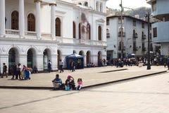 Plaza del Teatro在基多,厄瓜多尔 库存图片