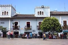 Plaza del Teatro i Quito, Ecuador Arkivfoton