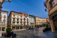 Plaza del Torico, Teruel, Aragón, España Imagen de archivo libre de regalías
