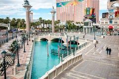Plaza delante de veneciano, Las Vegas Imagenes de archivo
