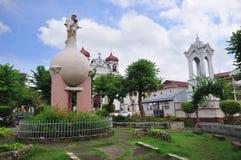 Plaza della città di Carcar (Cebu, Filippine) fotografie stock