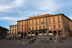 Plaza Della Rocca - Viterbo, Italia Imagenes de archivo