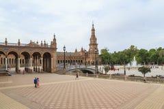 Plaza della Spagna in Siviglia Fotografia Stock Libera da Diritti