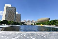 Plaza dello stato dell'impero a Albany, New York Fotografie Stock Libere da Diritti