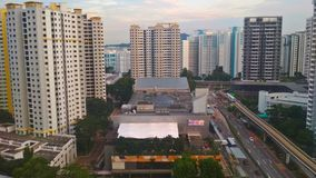 Plaza di Bukit Panjang immagine stock