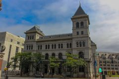 Plaza di Hampton una costruzione storica a Albany immagini stock