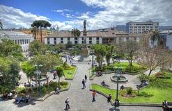 Plaza di indipendenza a Quito del centro Fotografia Stock Libera da Diritti
