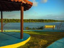 Plaza do beira-rio Imagem de Stock