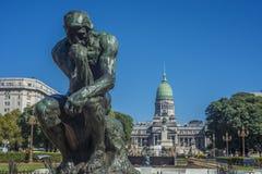 Plaza do congresso em Buenos Aires, Argentina Foto de Stock