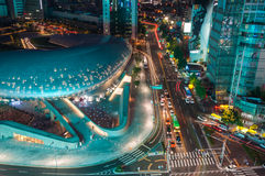 Plaza do projeto de Dongdaemun Fotografia de Stock Royalty Free