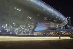 Plaza do projeto de Dongdaemun em Seoul, Coreia do Sul fotografia de stock