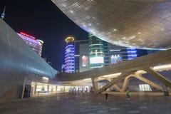 Plaza do projeto de Dongdaemun em Seoul, Coreia do Sul foto de stock royalty free