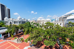Plaza in Downtown Guayaquil. Tree filled plaza in downtown Guayaquil, Ecuador Royalty Free Stock Image