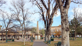 The Plaza Downtown. The plaza in downtown Santa Fe Stock Photo