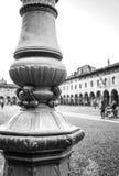 Plaza Ducale de Vigevano Foto blanco y negro de Pekín, China Imágenes de archivo libres de regalías