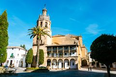 Plaza Duguesa de Parcent πλατεία στη Ronda, Ανδαλουσία, Ισπανία Στοκ φωτογραφία με δικαίωμα ελεύθερης χρήσης