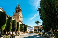 Plaza Duguesa de Parcent πλατεία στη Ronda, Ανδαλουσία, Ισπανία Στοκ εικόνες με δικαίωμα ελεύθερης χρήσης