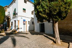 Plaza Duguesa de Parcent πλατεία στη Ronda, Ανδαλουσία, Ισπανία Στοκ Φωτογραφίες