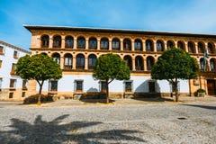 Plaza Duguesa de Parcent πλατεία στη Ronda, Ισπανία Στοκ φωτογραφίες με δικαίωμα ελεύθερης χρήσης