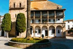 Plaza Duguesa de Parcent fyrkant i Ronda, Spanien arkivfoto