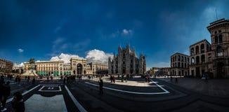 Plaza Duomo στο Μιλάνο, Ιταλία Στοκ Εικόνα