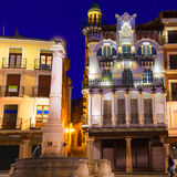 Plaza EL Torico Carlos Castel τετραγωνική Ισπανία της Αραγονίας Teruel Στοκ φωτογραφία με δικαίωμα ελεύθερης χρήσης