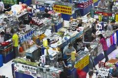 Plaza elettronica di Huaqiang fotografie stock libere da diritti