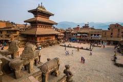 Plaza en Bhaktapur Fotos de archivo