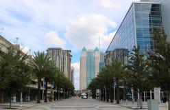 Plaza en la alameda en Orlando céntrica, la Florida Foto de archivo