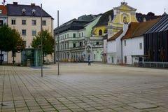 Plaza en Linz, Austria fotos de archivo
