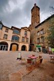 Plaza en Millau, Francia Imagen de archivo
