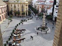 Plaza en Sevilla España Fotografía de archivo