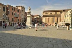 Plaza en Venecia Fotos de archivo libres de regalías