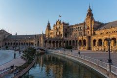 Plaza España in Siviglia, Spagna Immagine Stock Libera da Diritti