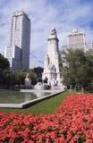 Plaza España Madrid cuadrada Imagen de archivo