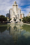 Plaza España Madrid cuadrada Fotografía de archivo