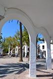 Plaza española Imágenes de archivo libres de regalías