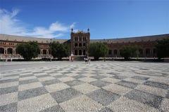 Plaza española asoleada Imagenes de archivo