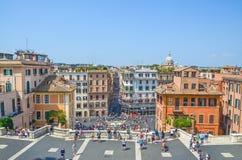 Plaza Espagna, Roma, Italia Foto de archivo libre de regalías