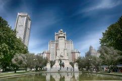 Plaza Espana Royaltyfri Fotografi