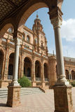 Plaza Espana e arco foto de stock royalty free
