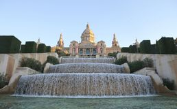 Plaza espana in barcelona Royalty Free Stock Photos