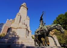Plaza Espana a Madrid fotografia stock libera da diritti