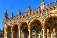 Plaza Espana in Sevilla , Spain. royalty free stock image
