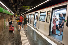 Plaza Espana subway stop, Barcelona, Spain Stock Images